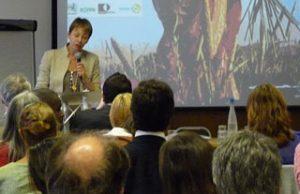 Caroline Lucas MP, speaking at the event